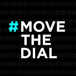 move the dial logo on black
