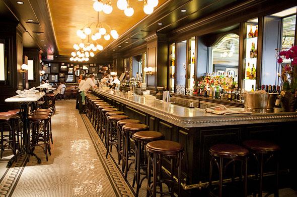 La société interior shot with bar