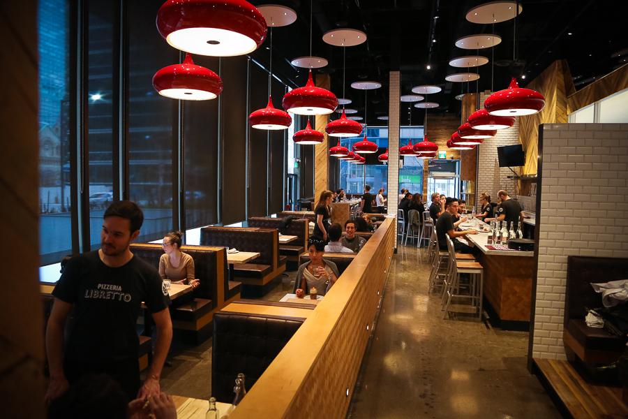 Interior shot of pizzeria libretto