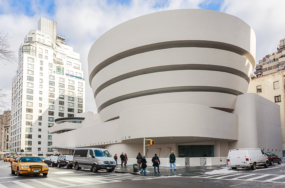 exterior image of the guggenheim museum