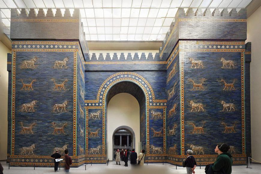 interior, ishtar gate at pergamon museum