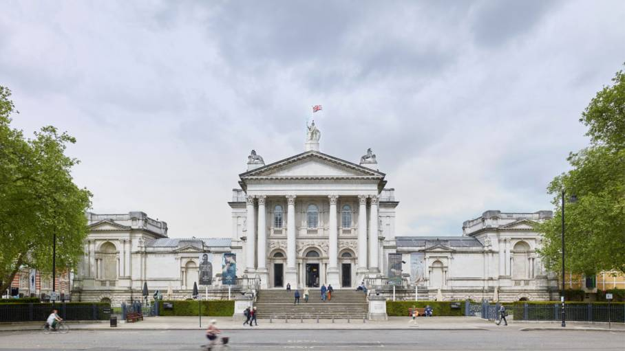 exterior image of tate britain during the day.