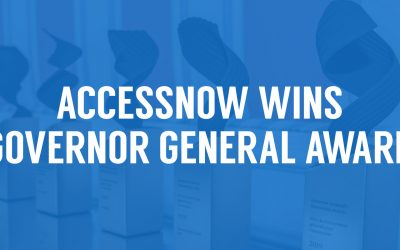 AccessNow wins Governor General Award
