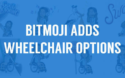 Bitmoji Finally Adds Wheelchair Options